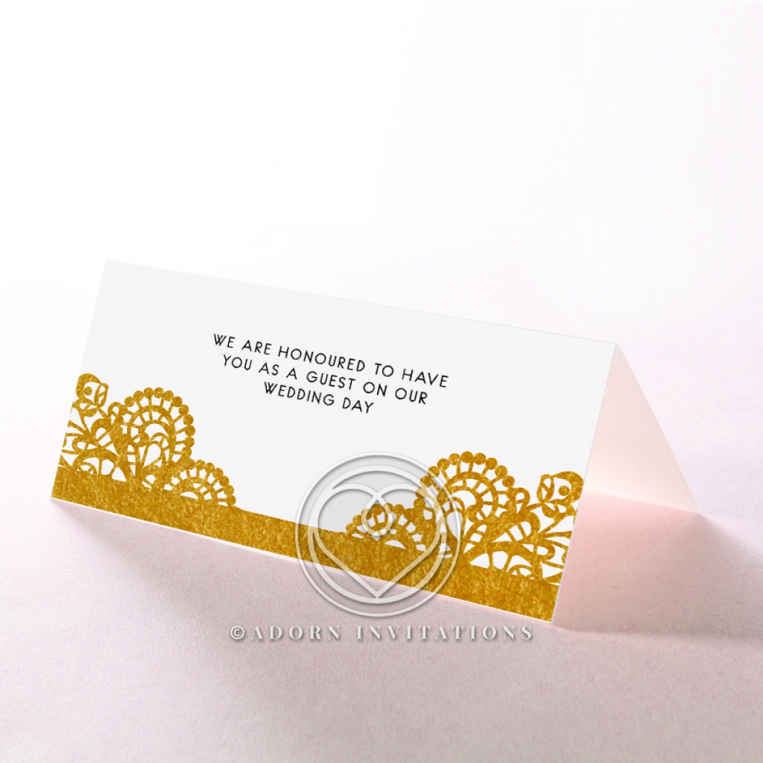 Breathtaking Baroque Foil Laser Cut reception place card