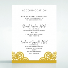 Breathtaking Baroque Foil Laser Cut accommodation wedding invite card