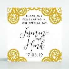 Breathtaking Baroque Foil Laser Cut wedding gift tag stationery