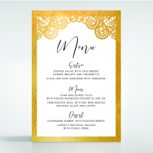 Breathtaking Baroque Foil Laser Cut reception menu card stationery item