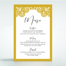 Breathtaking Baroque Foil Laser Cut wedding reception menu card