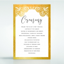 Breathtaking Baroque Foil Laser Cut order of service ceremony invite card design