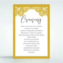 Breathtaking Baroque Foil Laser Cut order of service stationery