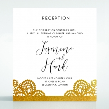 Breathtaking Baroque Foil Laser Cut reception invite card design