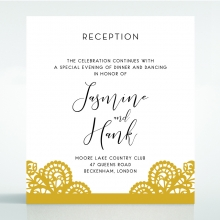Breathtaking Baroque Foil Laser Cut reception wedding card