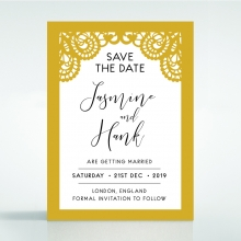 Breathtaking Baroque Foil Laser Cut save the date stationery card