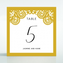 Breathtaking Baroque Foil Laser Cut wedding reception table number card design