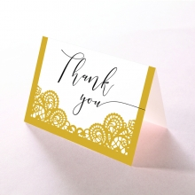 Breathtaking Baroque Foil Laser Cut wedding stationery thank you card item