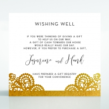 Breathtaking Baroque Foil Laser Cut wishing well invite